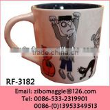 Personalized Colored Ceramic Tea Cup Water Cup with Custom Print for Eco Ceramic Drinking Cup