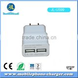New products consumer electronics dual usb travel charger 5V 2A mobile accessory