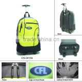 High Quality Hot sale men newest special promotional Trolley Backpack polyester green and black