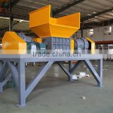 Powerful double shafts double motors medical waste crusher machine