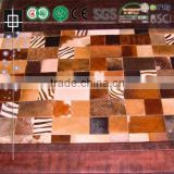 Hotel Room Cowhide Patchwork Rugs Flooring Material Carpet