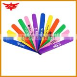 2016 sports hot promotional silicone kids slap band                                                                         Quality Choice