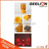 Factory rotary solar traffic warning light/led warning light