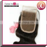 Chinese manufacture and in factory price body wave brazilian hair swiss lace top closure