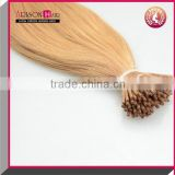 Arisonhair keratin tipped human hair extension i tip hair extension brazilian virgin human blonde hair extension