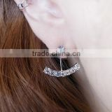 Elegant rhinestone Bridal Earrings Crystal Simple Earrings Anchor Earrings