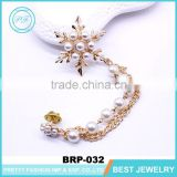 Fashion korea brooch snowflake tassel pearl brooch for women clothing accessories