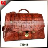 High quality genuine crocodile leather briefcase men leather briefcase