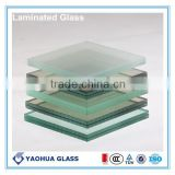 China Laminated Glass Manufacture Shandong Yaohua/Railing or Stair Decorative Tempered Laminated Glass