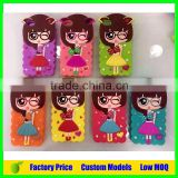 Cute sexy girl silicone mobile 3d phone case for LG G2 mini D620 cell phone back cover case