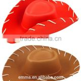 Top new fashion style cowgirl hat pretty design red cowboy hat HT2072
