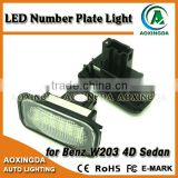 LED number license plate light for Mercedes-benz W203 4D Sedan