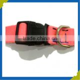 OEM custom led orange eco-PVC silicone plain polyester pet dog collar China