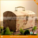 High-grade clamshell Europe type restoring ancient ways suitcase personality gift box                                                                                                         Supplier's Choice
