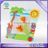 custom summer holiday kids beach playing soft pvc rubber souvenir photo frame