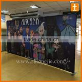 Custom trade show advertising pop up display stand, backdrop banner stand