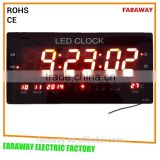 "red/green/blue 3"" led calendar clock with alarm and temperature"