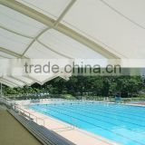 Fiberglass architectural fabric / PTFE / for tensile structures / fire-retardant permanent structures membrane