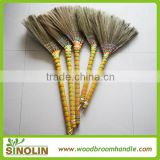 SINOLIN natural straw tiger grass broom with handle