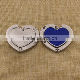 Heart shape metal purse hanger/blank purse holder with custom logo wholesale                                                                                                         Supplier's Choice