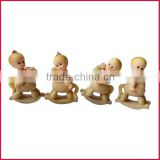 Resin baby crafts baby figurine decoration baby in cockhorse