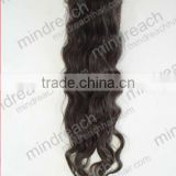 CHINA MR HAIR !2014 new arrival in stock 24'' nature color virgin human hair 5x5 silk top closure pieces