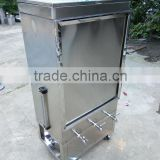 150 liter stainless steel coffee cart with gauge and four wheels