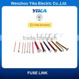 Wenzhou Yika High Voltage Tinned Copper Wires Removable Fuselink Button Type Fuse Link