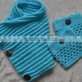Wholesale beautiful girls winter knitted scarf