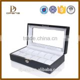 Fashion design leather beauty cosmetic box for lady with zipper