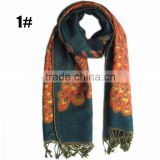 Pashmina Vintage Peacock Printed Scarf Women Fashion Cotton Fabric Scarfs Popular 180*70 Scarves shawls