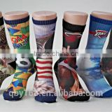 Fancy print whole custom novelty sport men over knee socks
