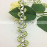 green wave bending gold and silver trimming braid lace
