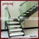best staircase design/marble treads small space stairs