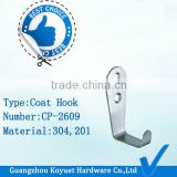 Wholesale Modern Factory Directly Toilet Partition Hardware Stainless Steel Clothes Hook