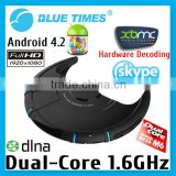 Latest Rooted Dual Core Android 4.2 TV Box Hardware Decoding XBMC Pre-installed 3D 1080p HDMI WiFi Media Player