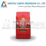 LIXING PACKAGING cellophane packaging ground coffee bags with valve wholesale packaging bag
