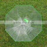 China suppliers produced hot sale online shop China Chinese imports wholsale transparent umbrella with color handle