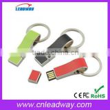 Metal Leather key ring Whistle shape USB Flash Drives thumb pen drives memory stick disk gift 2GB 4GB 8GB 16GB 32GB