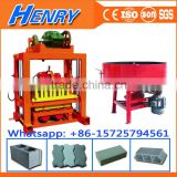 qtj4-40 hollow concrete retaining wall block machine with molds