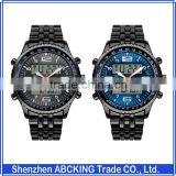 30M Water Resistant skmei New Black Metal Cheap LED Watches For Men
