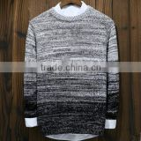 latest high men quality wool gradient autumn pullover sweater, men fashion round neck sweater pullover wholesale
