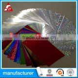 CUSTOM COLORFUL HOLOGRAPHIC FOIL PRINTING VINYL FILM LABEL SELF ADHESIV VINYL FILM ROLLS STICKER