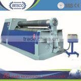 W11 series roll metal plate machine , mechanical 3-roller rolling steel , aluminum sheet roll