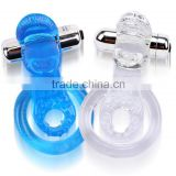 Jelly Dual Ring Tongue Style Vibrating Cock Rings /Penis Cock Ring/Sex Toys,/Sex Products,/Adult Toy
