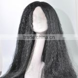 roots color italian yaki synthetic hair full lace wig N190