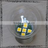 LED PC Clear shell G45 color light bulb 1W E27 / B22 , PC cover , IP45 , CE & ROHS