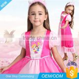 Cotton Pink Princess pajamas/sleepwear For child Girl