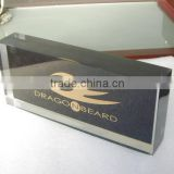 Eye Catching Acrylic Logo Block Display, Frosted Plexiglass Block, Sand Blast Brand Block