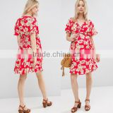 Apparel wholesale high quality printed fabric girls dress names with pictures beach women dresses